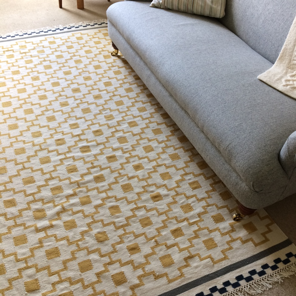 Ikea 100% cotton flatwoven rug