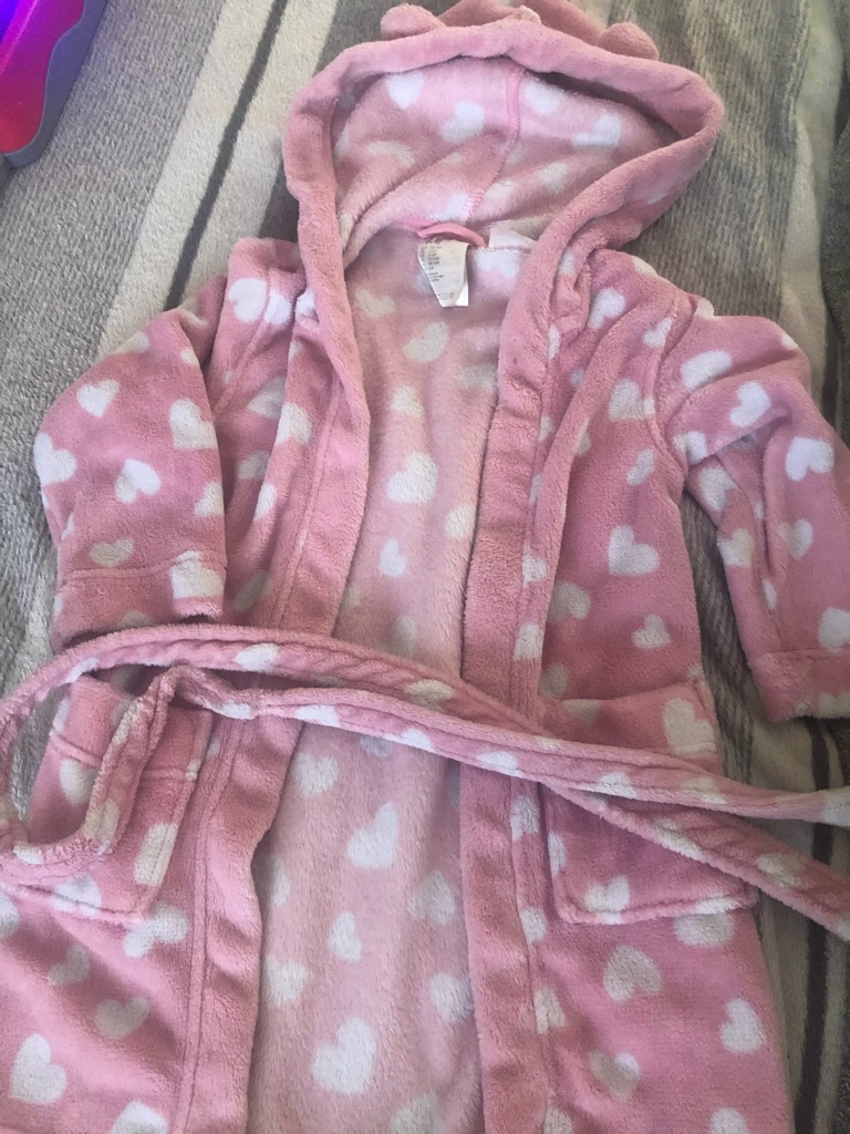 Girl dressing gown