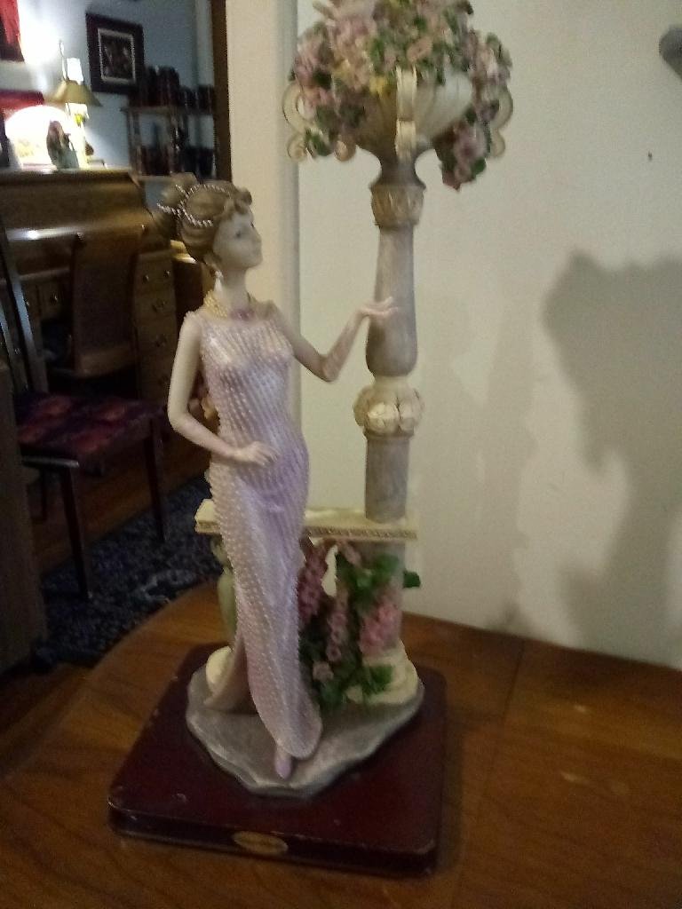 Victorias collection woman vintage figurine