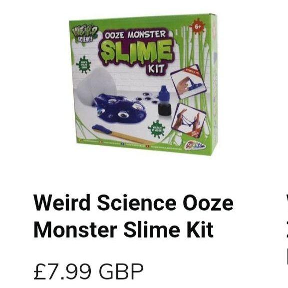 Weird science ooze monster slime kit