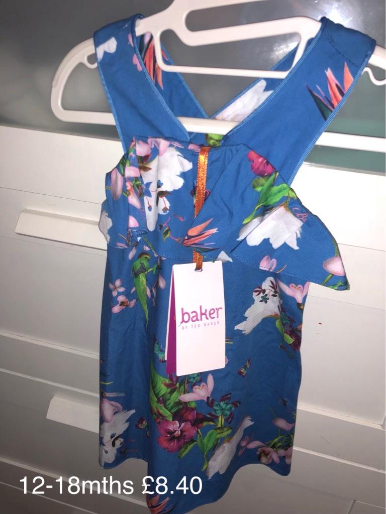 Ted Baker Baby Girls Dress💙6-9mths💙12-18mths