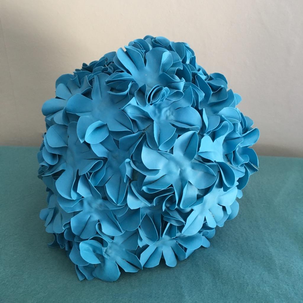 Blue Vintage Style Bathing Cap