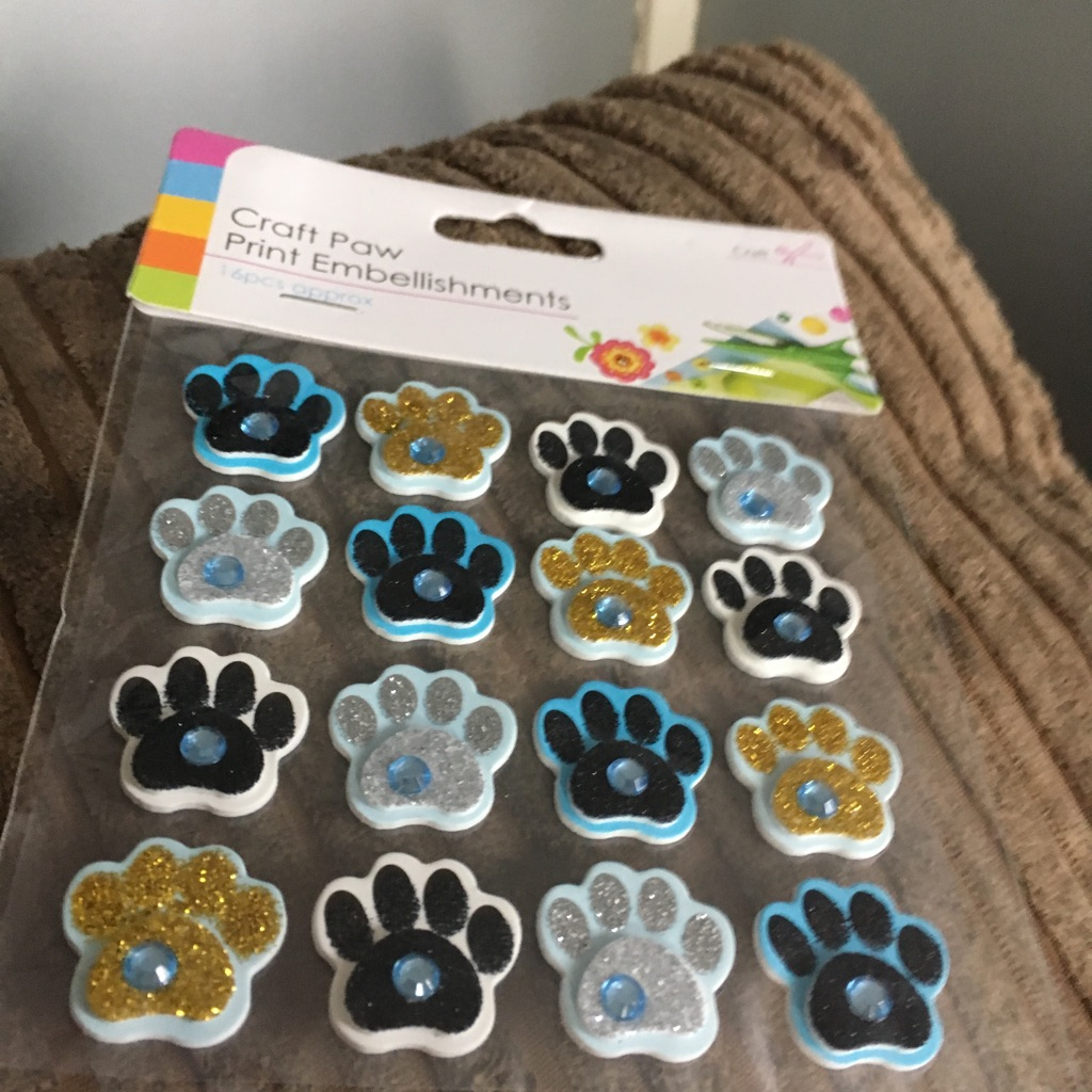 Craft paw print embellishments