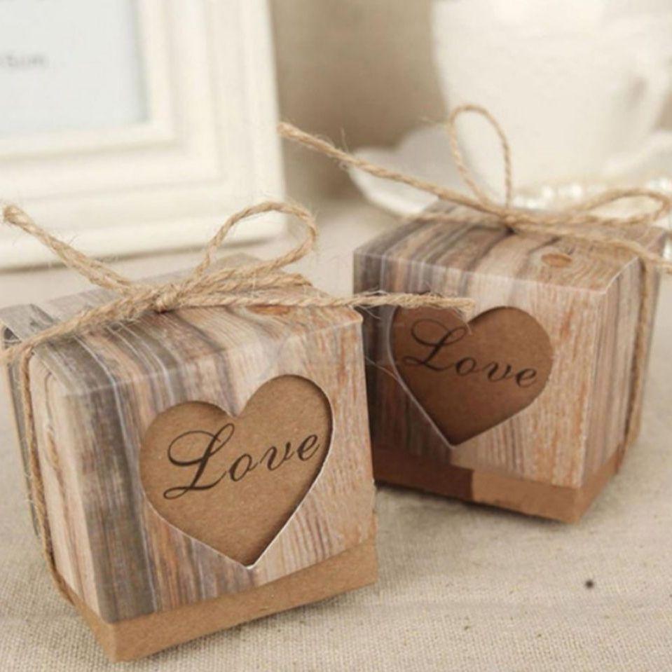 200 rustic wedding favour boxes 5cmx5cmx5cm