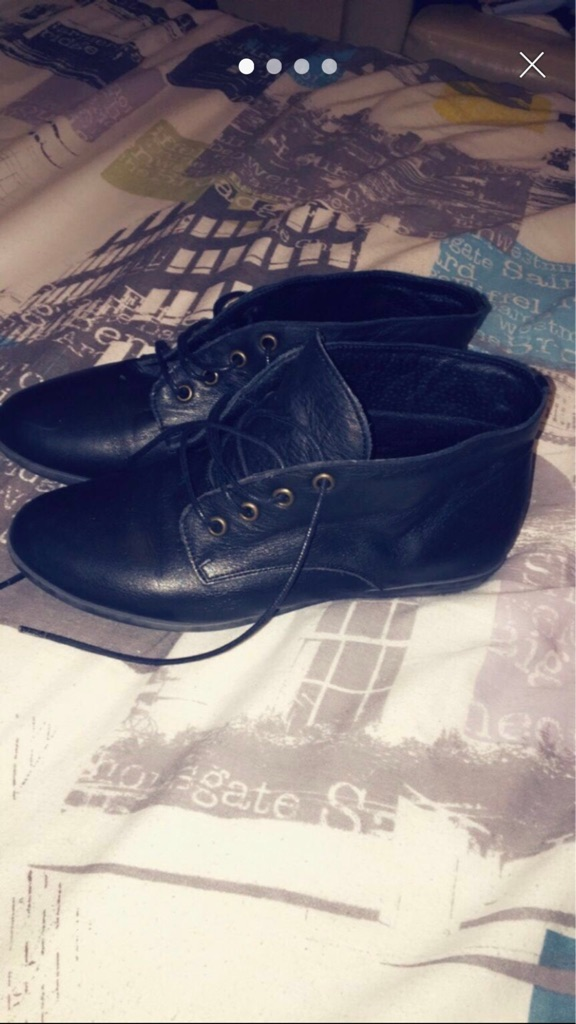 Office flat black shoes size 4