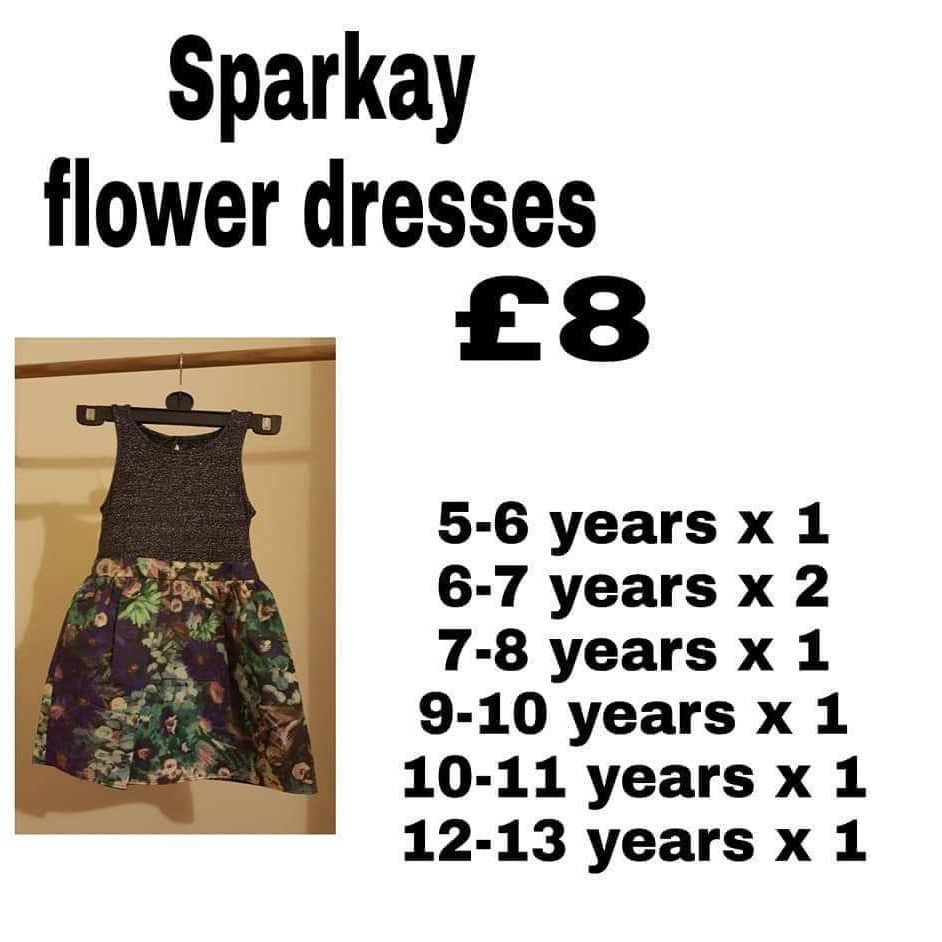 Sparkey flower dresses