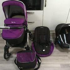 Silver Cross Wayfarer Travel system purple