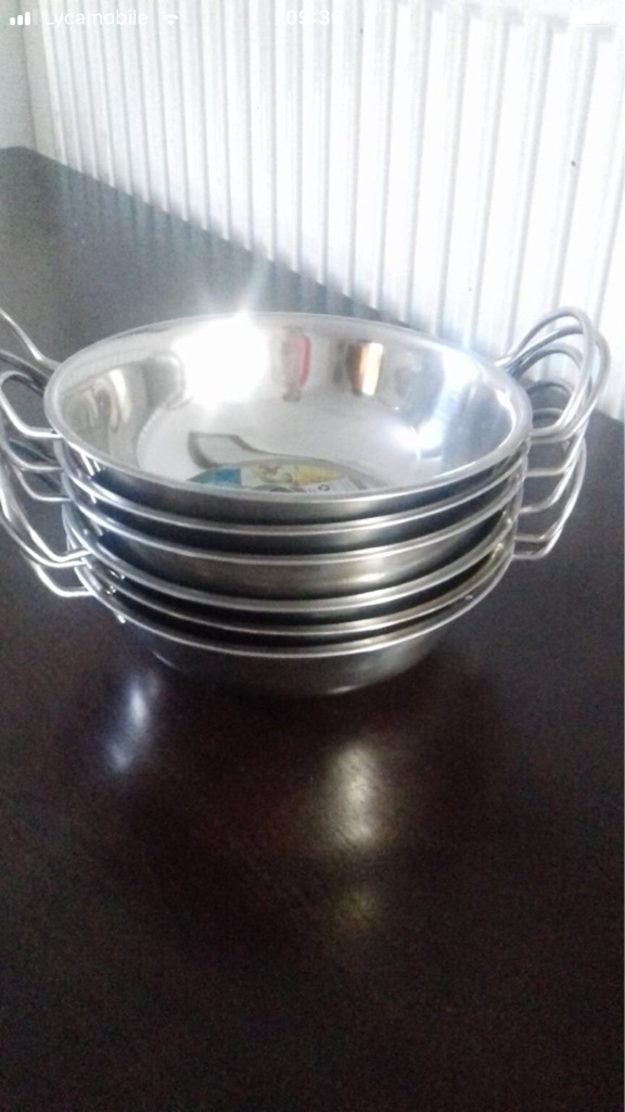 Steel balti dishes for sale