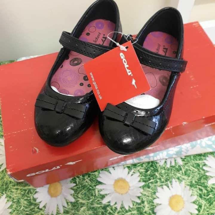 Girls Gola Black Mary Jane  Back To School Black Croc Pu RRP £28