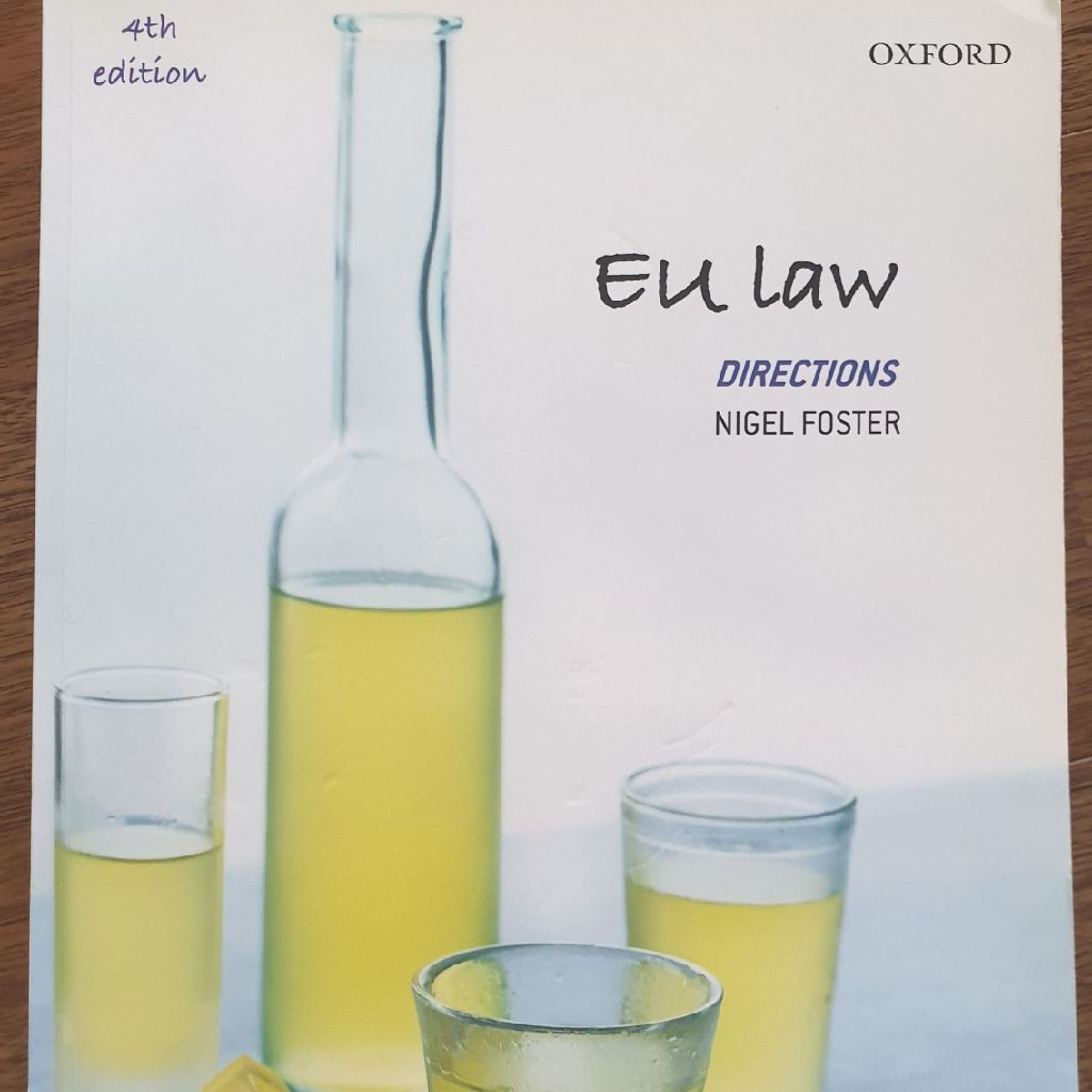 EU law textbook by Foster N.
