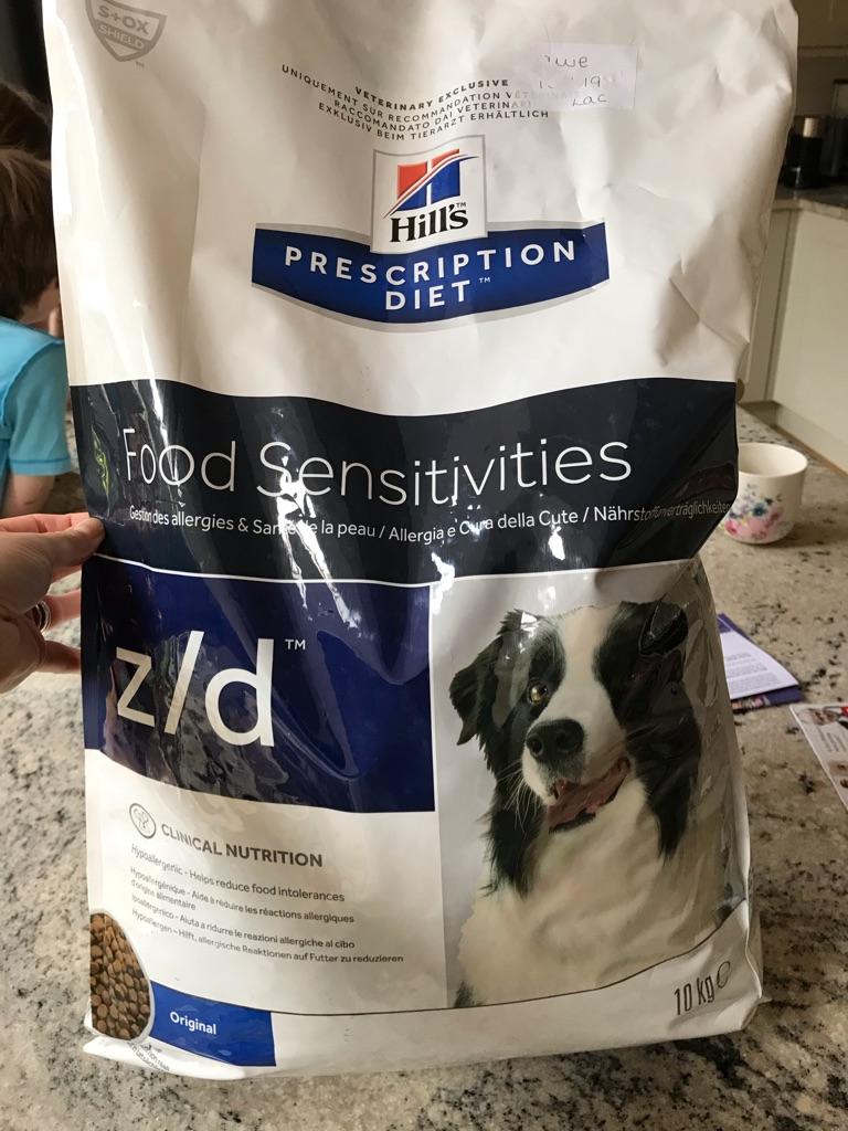 Hills Z/D food sensitivities dry food 10kg