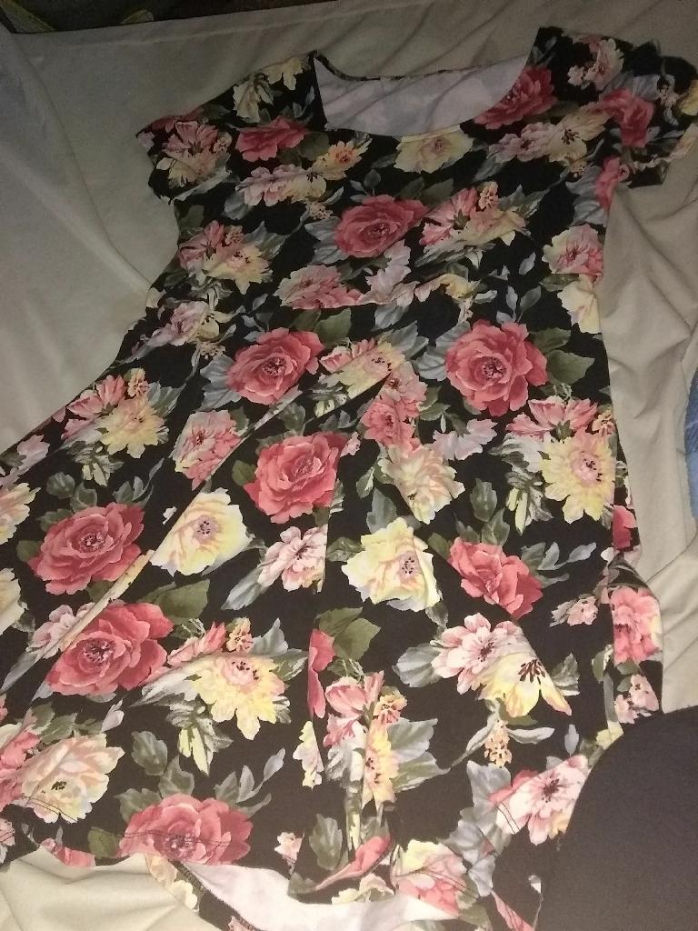 Flower dress & Remington flat iron