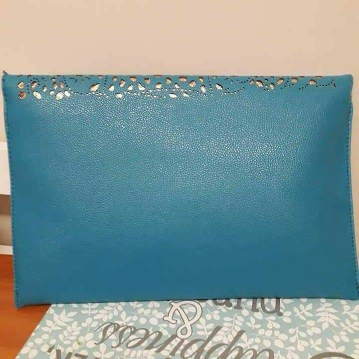 Blue New Nude Clutch Handbag
