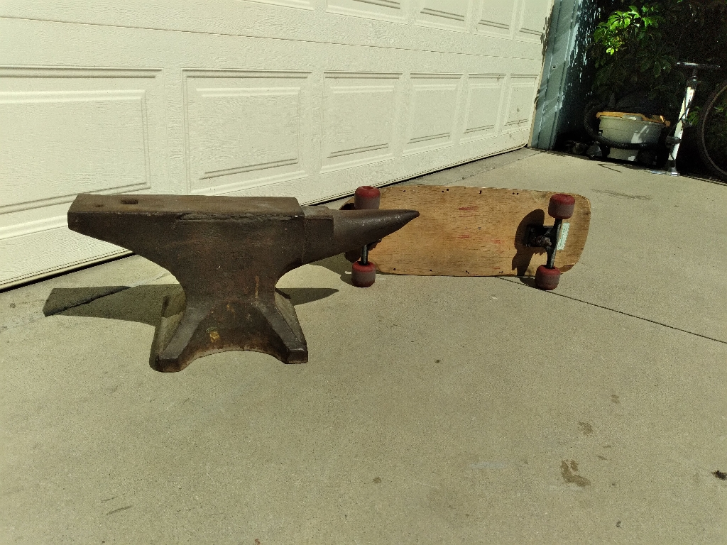 Peter Wright PAT. Wrought iron anvil