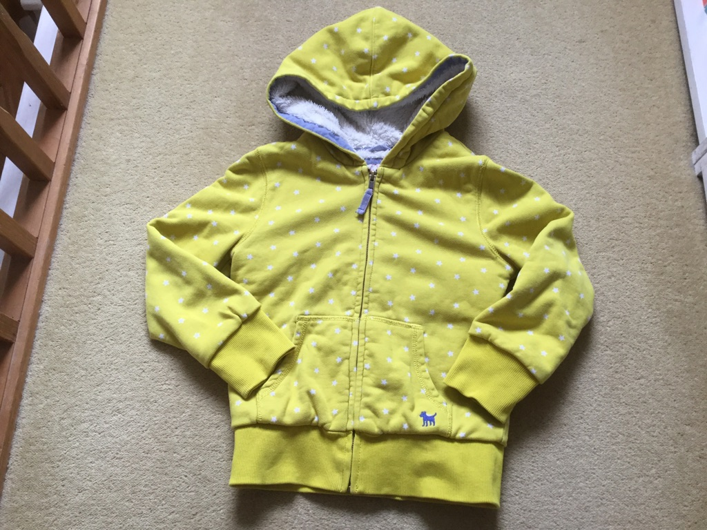 Mini Boden bear fleece-lined hoodie, 6-7 year