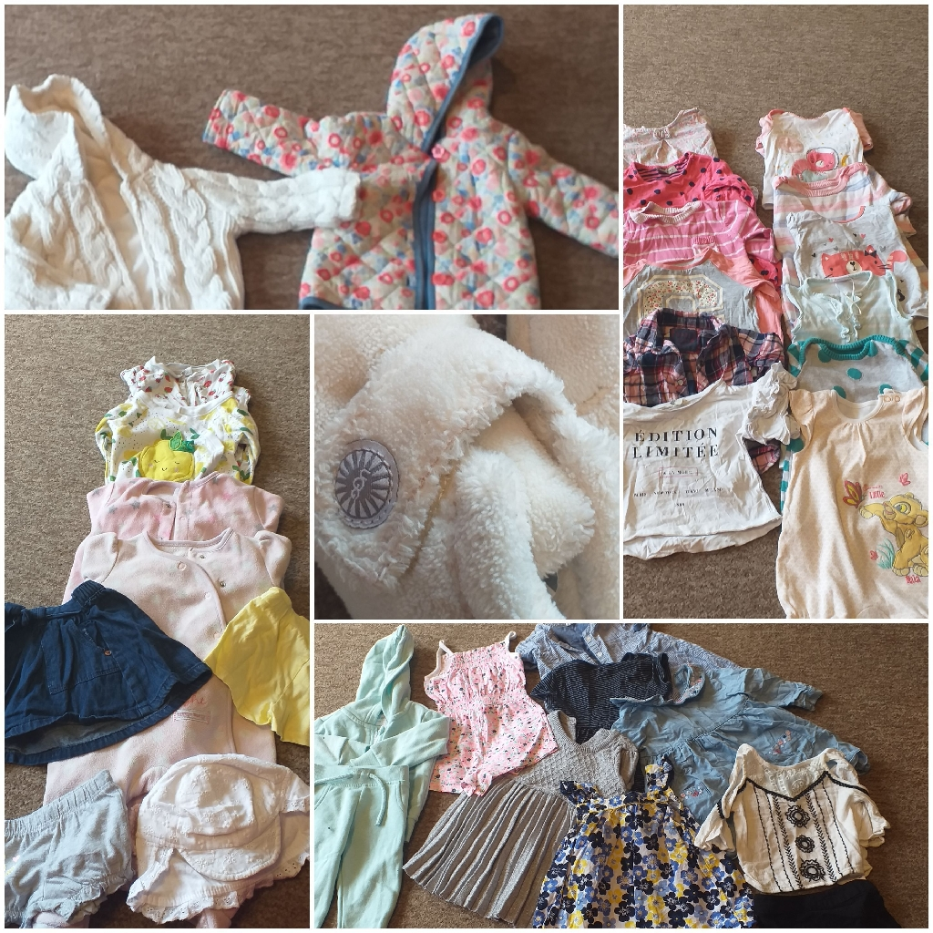 Large baby girl bundle 0-6 M