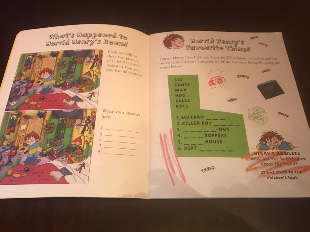 Children's Horrid Henry Books x4