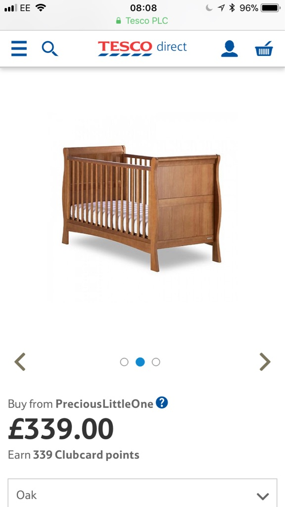 Izziwotnot Sleigh Cot / Cot bed