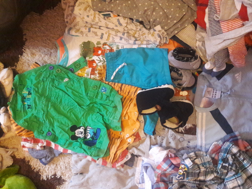 Over 100 iteams  of baby 6 to 9 month clothes.