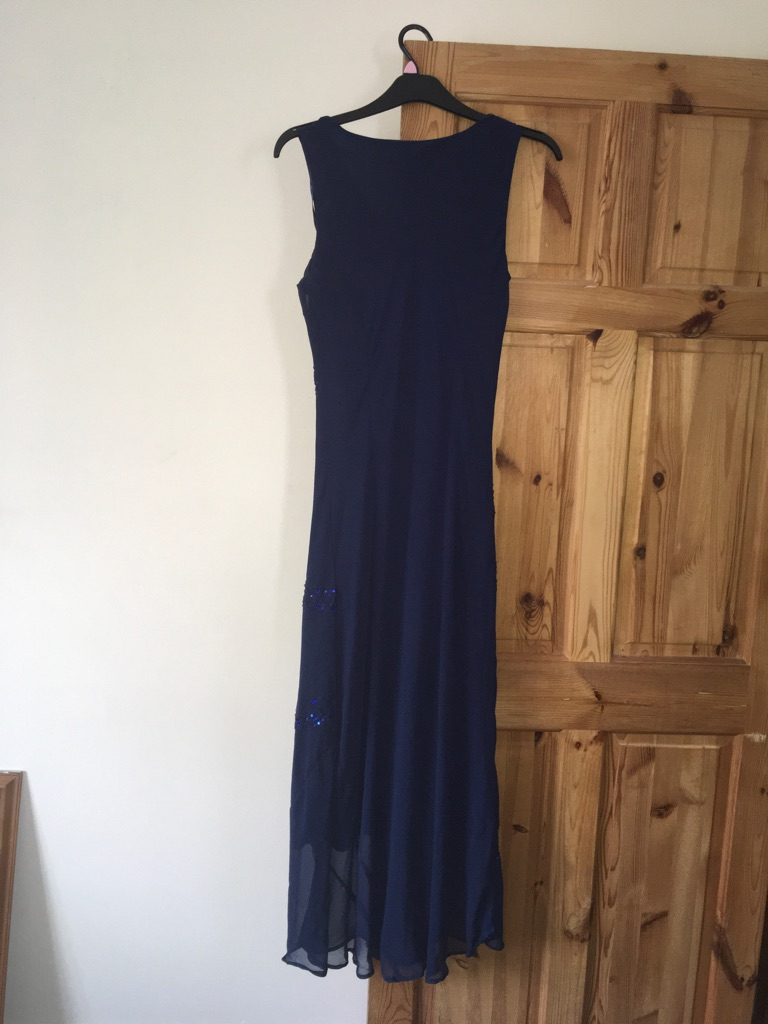 Vintage Blue Bodycon Occasion / Prom Dress