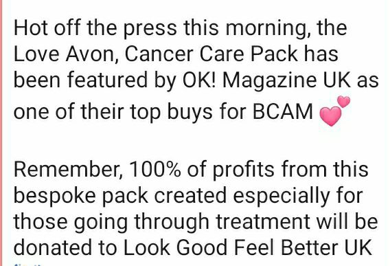 Love Avon, Cancer Care Pack