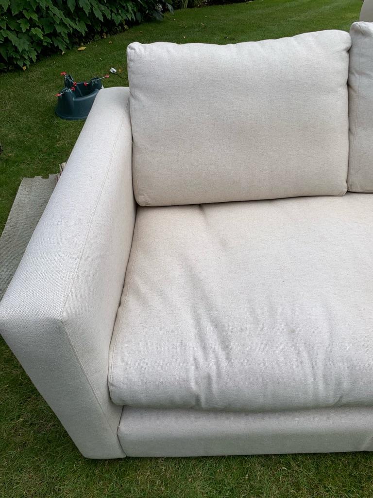2 seater linen cotton sofa