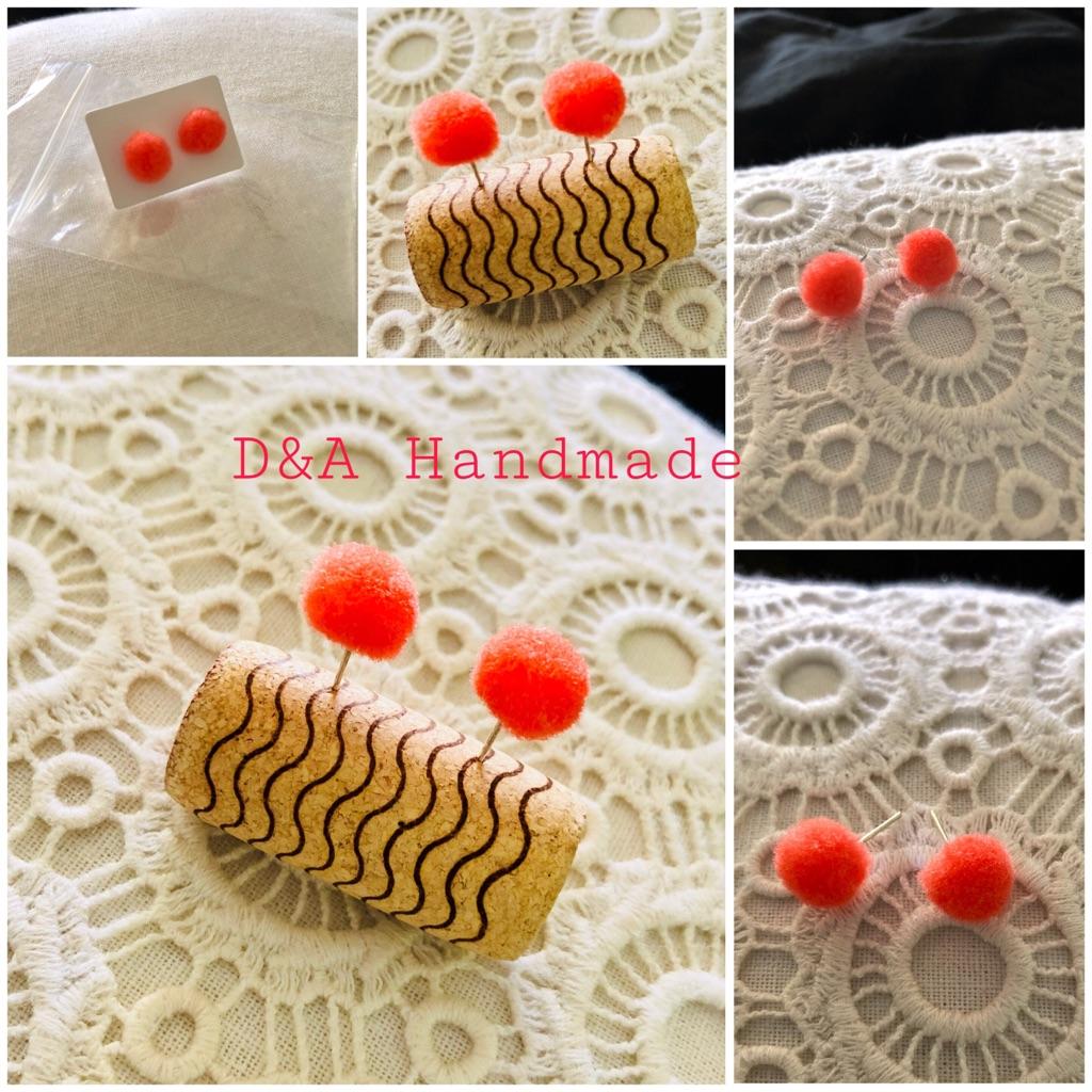 D&A Handmade 🙌 Earrings Pom Pom