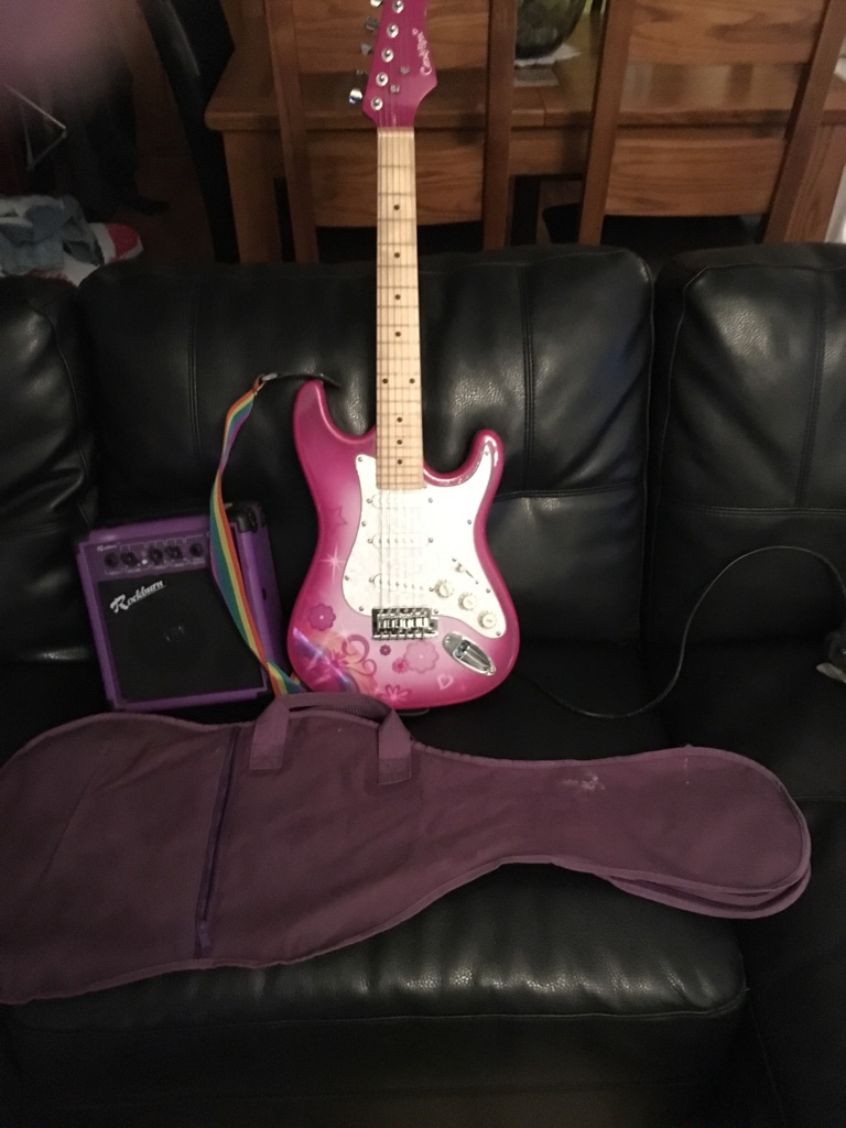 Rock candy electric guitar and amp