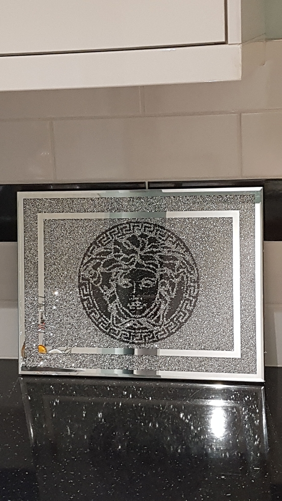 Stunning crushed crystal chopping board brand new in box