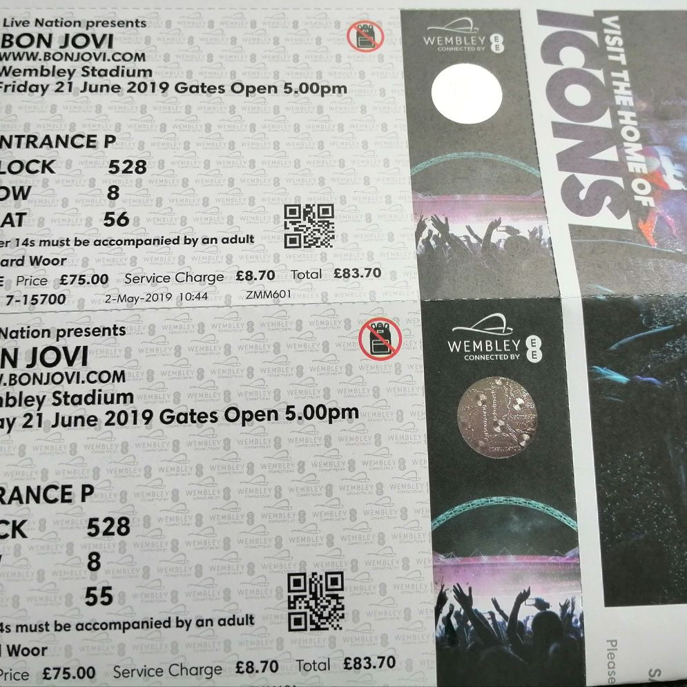 Bon Jovi and Manic Street Preachers tickets at Wembley Fri 21st June