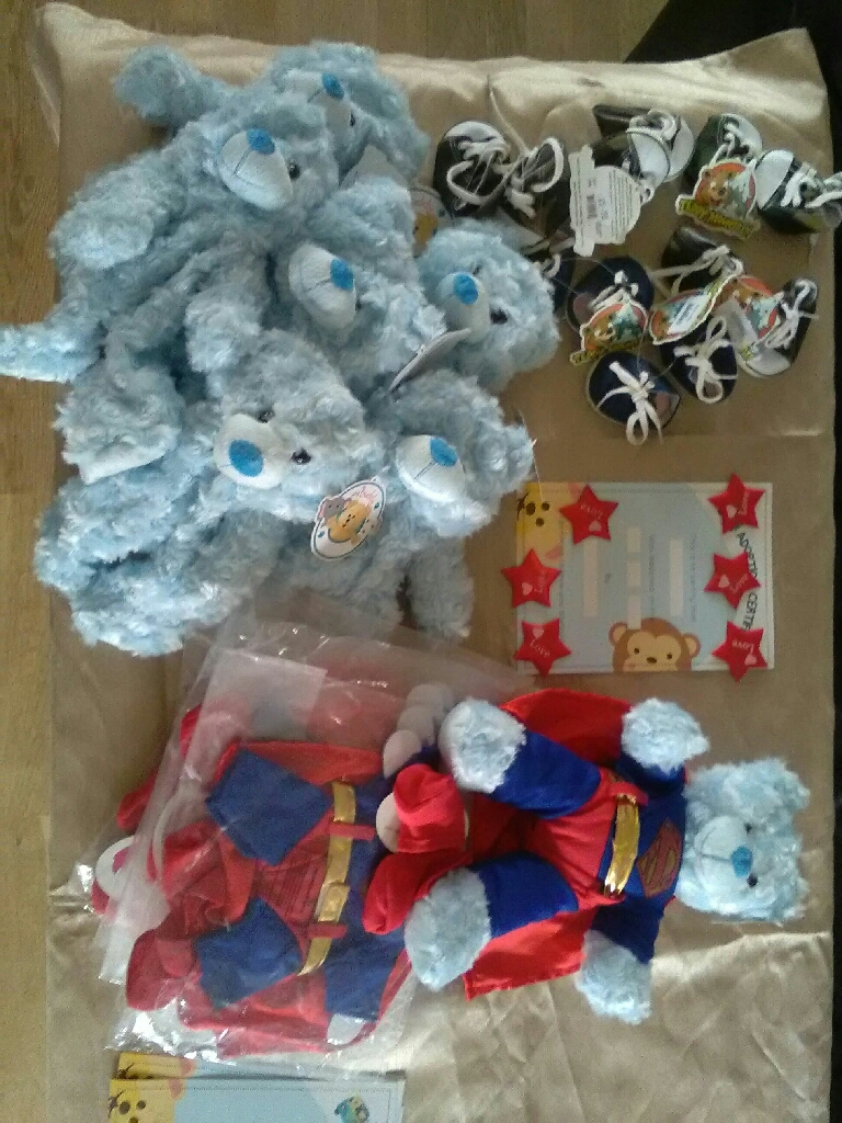 Build a bear at home for 6 plus outfits and shoes!