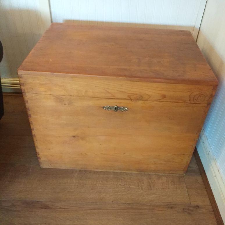 Victorian pine chest