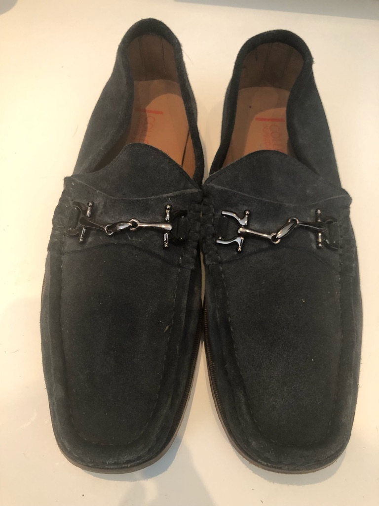 M&S blue loafers