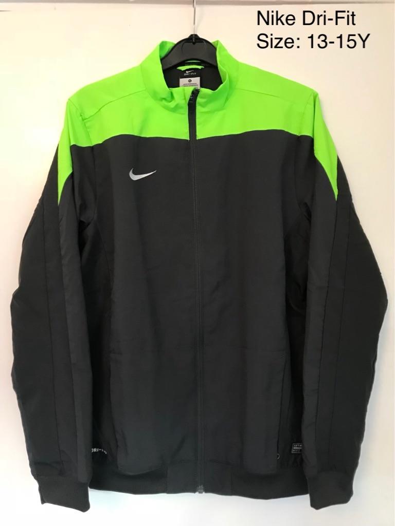 New Nike Dri-Fit Full Zip Jacket, 13-15 Yrs