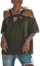 Isassy women's cold shoulder top