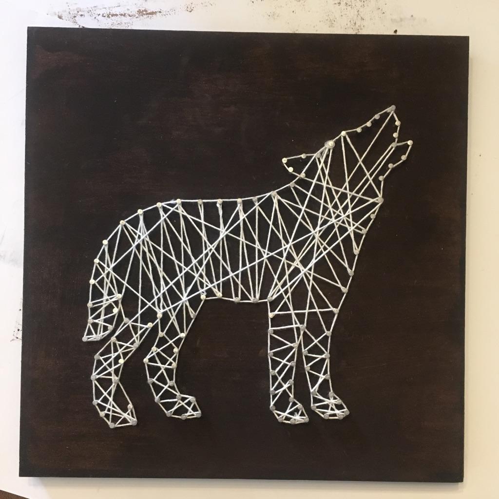 Wolf String Art