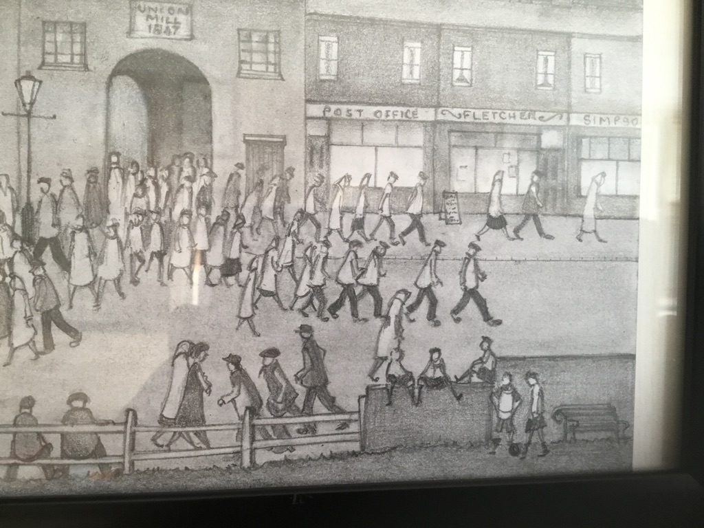 Mill Scean drawing after L S Lowry 13in 10in