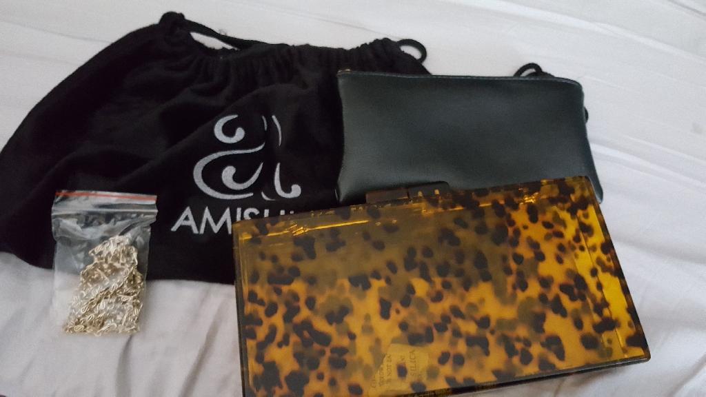 Amishi Hard Case Clutch Bag