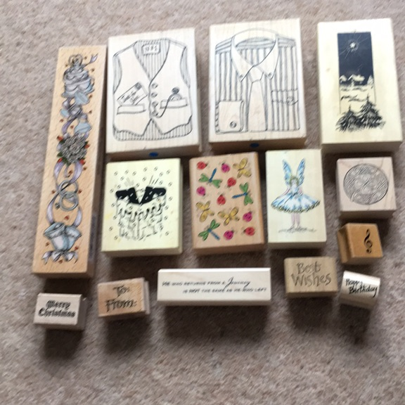 Wooden craft stamps