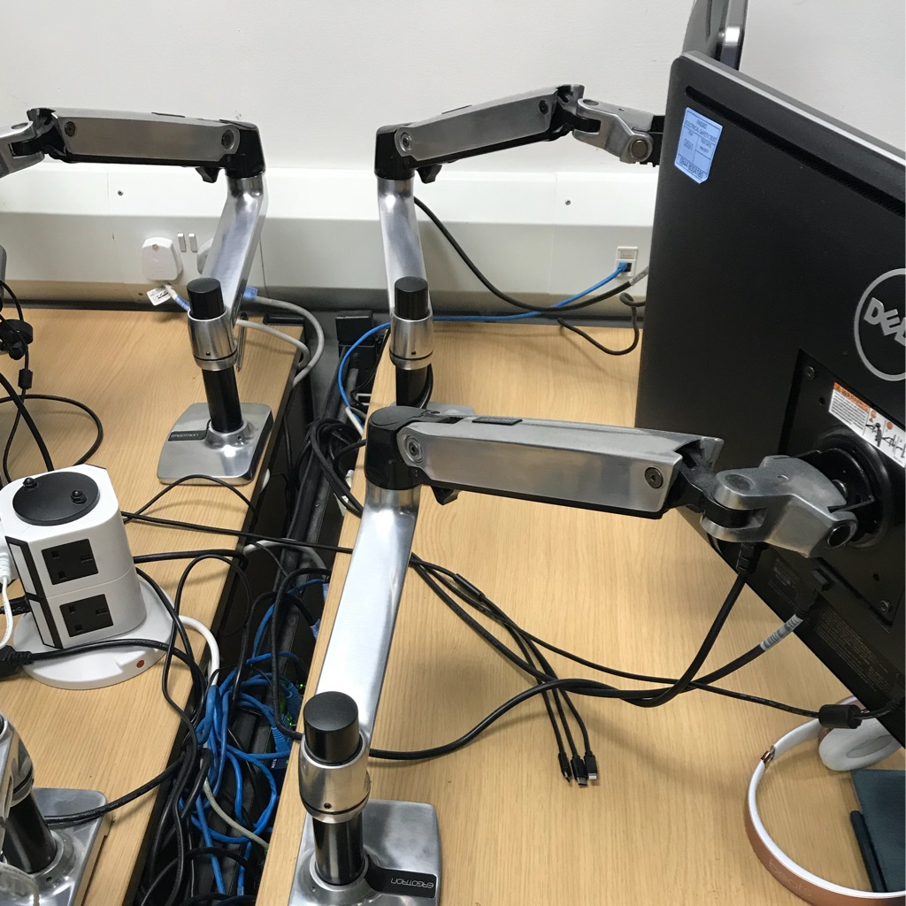 Ergotron monitor arms