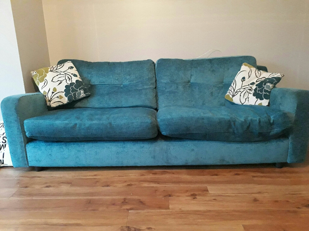 Teal sofa 3&4seater