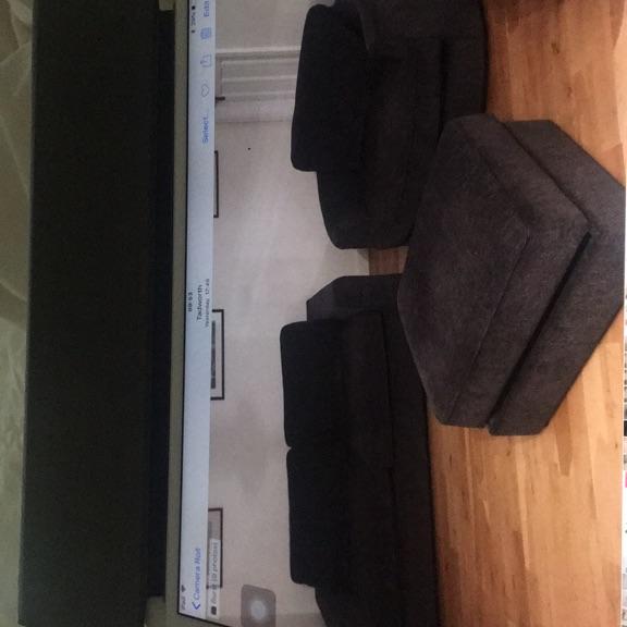 Sofa swivel chair and footstool