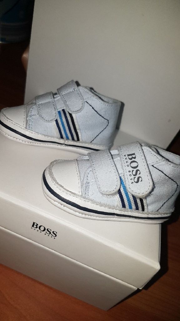 Baby Hugo boss shoes, hat & baby short suit