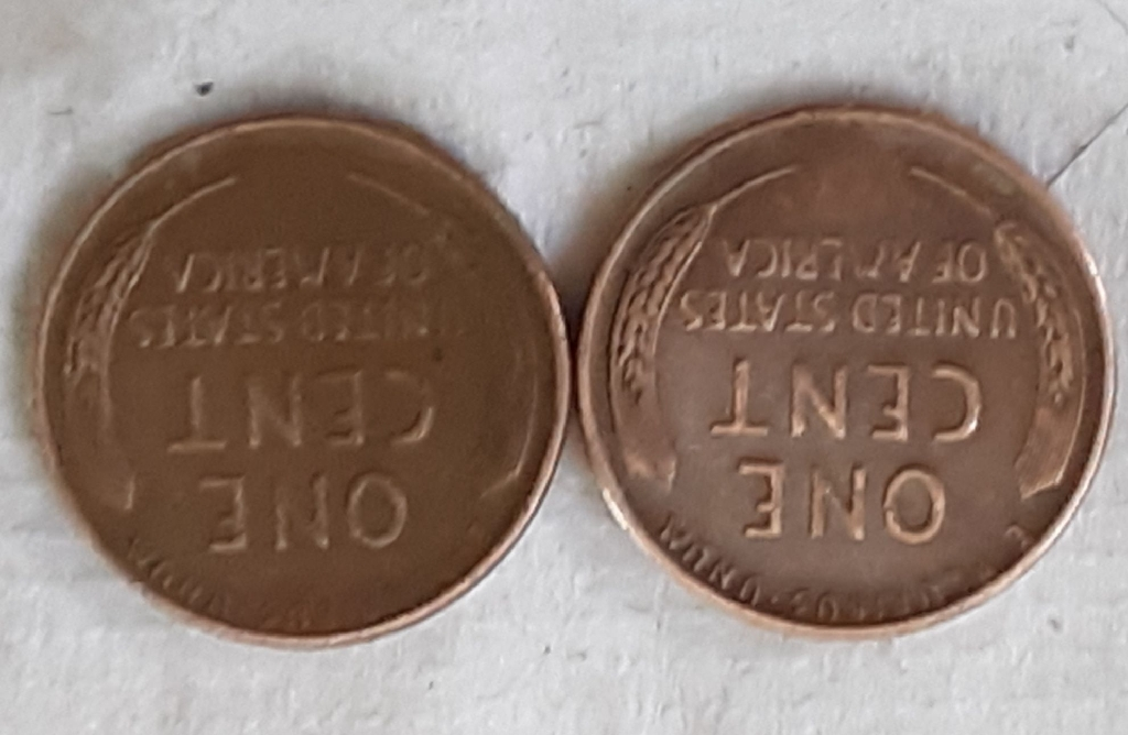 34 wheat pennies 5nickles
