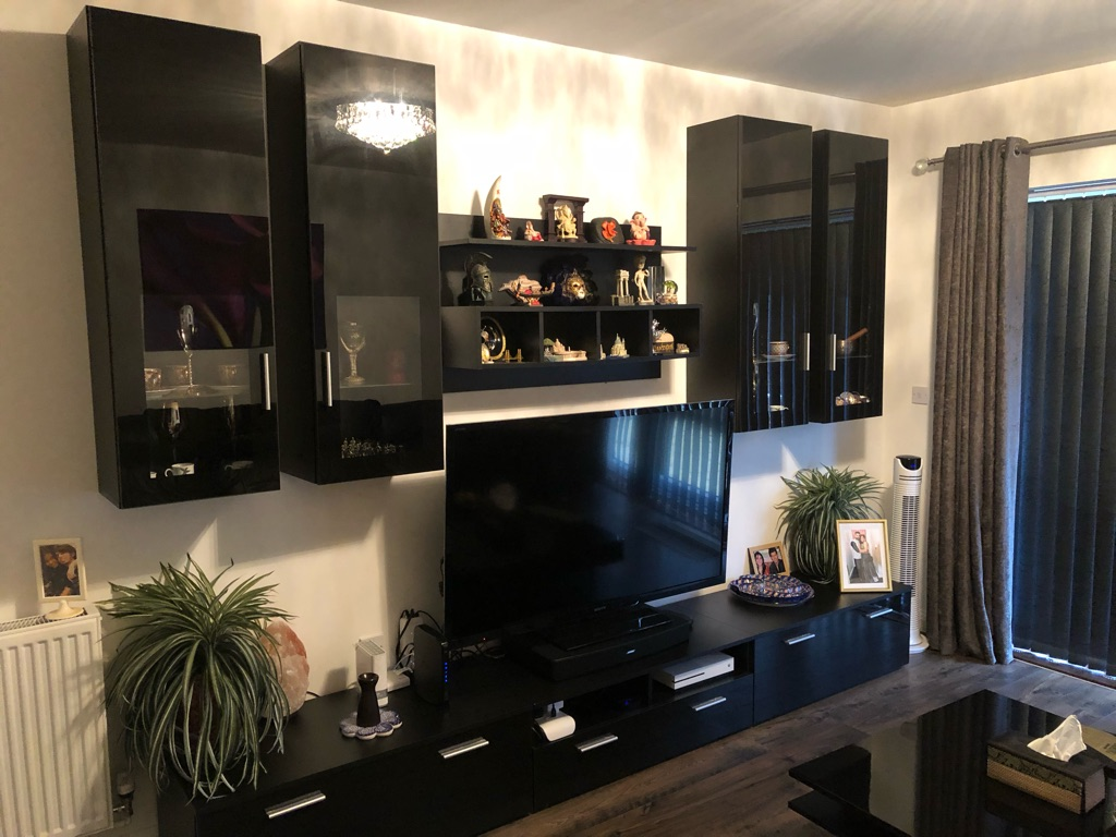 Full Black Entertainment Unit with lots of storage - Living room Bexleyheath