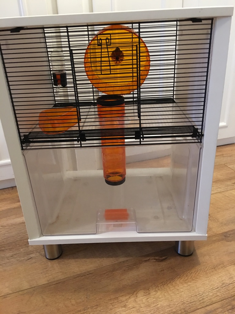 Gerbil hamster cage side table