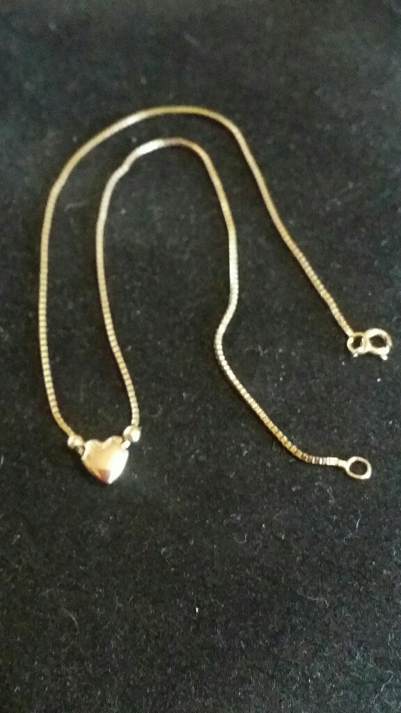 9ct gold Heart Anklet