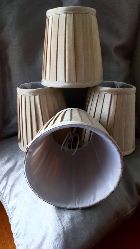 Candle Clip On Pleated Shades (Set of 4)
