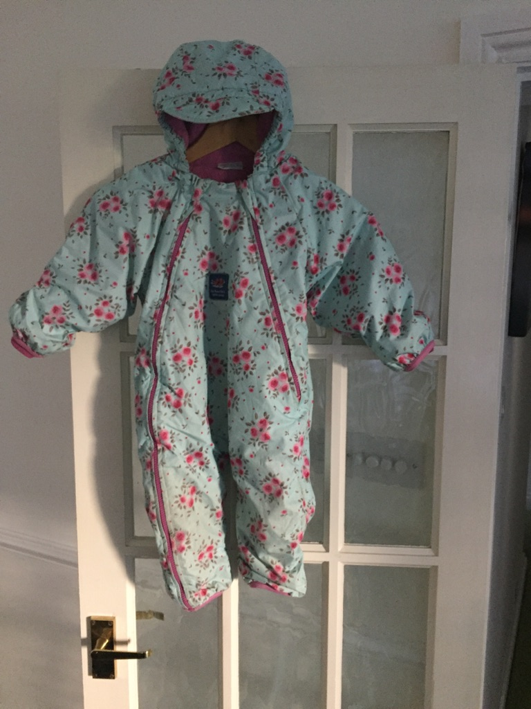 All in one fleece lined outdoor suit Jojo Maman Bebe