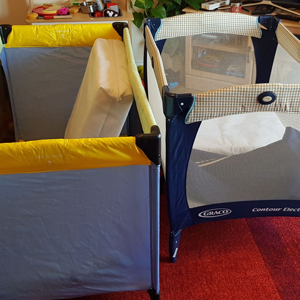 Two travel cots available